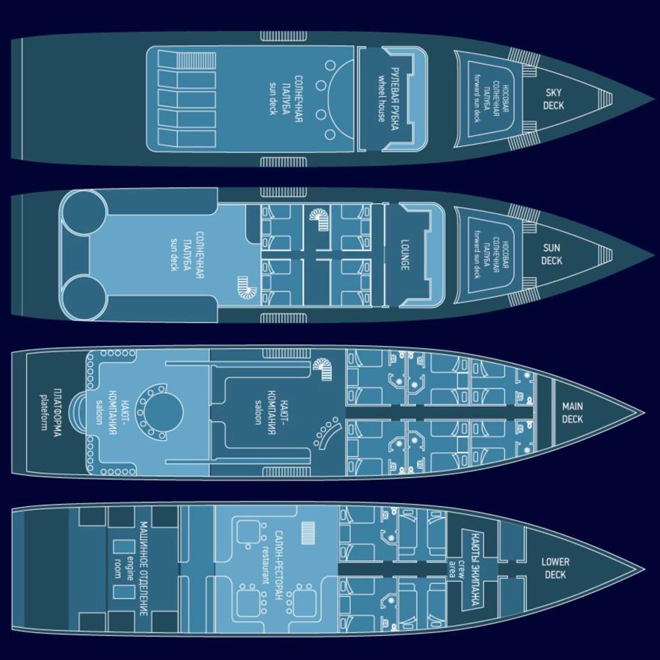 sea scorpion decks
